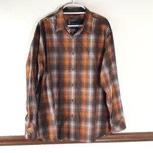 Men's Rocawear Button Down Plaid Shirt Size 2XL